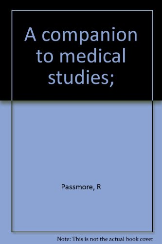 9780632058402: A companion to medical studies;