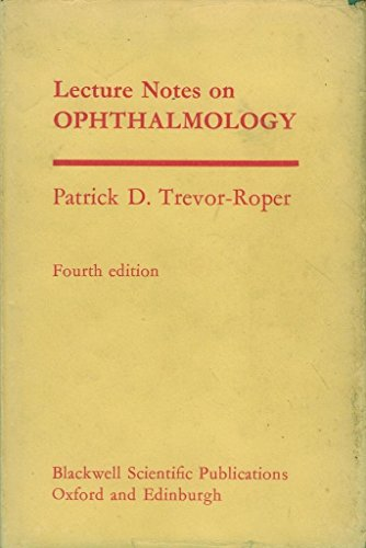 9780632084500: Lecture Notes in Ophthalmology