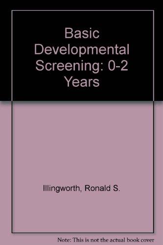 9780632099306: Basic Developmental Screening: 0-2 Years
