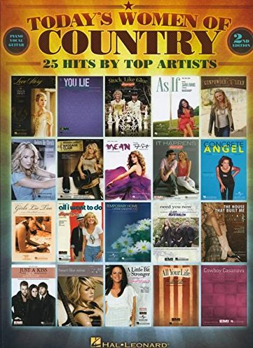 9780634000300: Today's Women Of Country (2nd Edition) 25 Hits By Top Artists