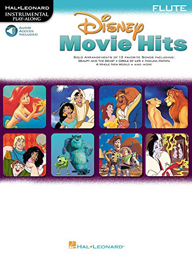 9780634000935: Disney Movie Hits For Flute Book + Audio access included (Disney Publications)