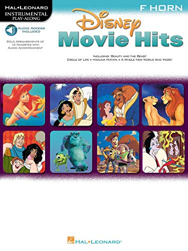 9780634000973: Disney Movie Hits for French Horn: Play Along with a Full Symphony Orchestra!