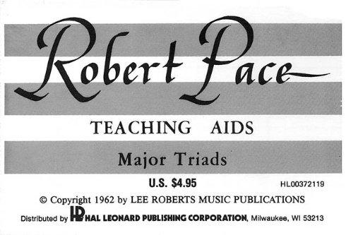 MAJOR TRIADS FLASH CARDSS ROBERT PACE TEACHING