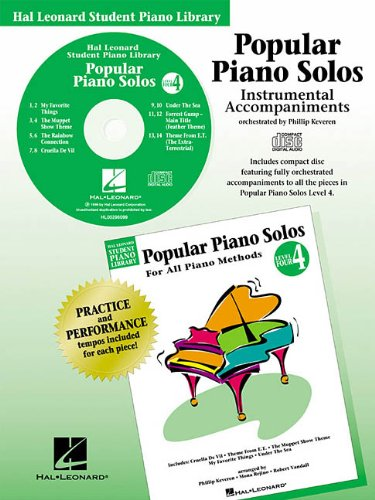 9780634002663: Popular Piano Solos - Level 4 - CD CD