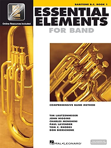 9780634003233: Essential Elements for Band - Baritone B.C. Book 1 with EEi