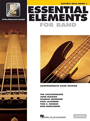 9780634003264: Essential Elements for Band - Electric Bass Book 1 with EEi