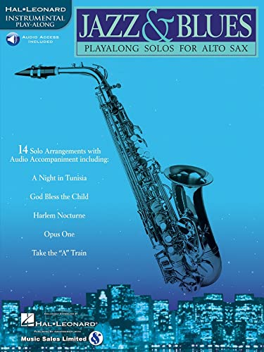 9780634004438: Jazz & Blues: Play-Along Solos for Alto Sax