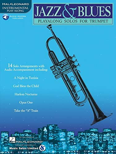 9780634004445: Jazz & Blues: Play-Along Solos for Trumpet Book & Online Audio
