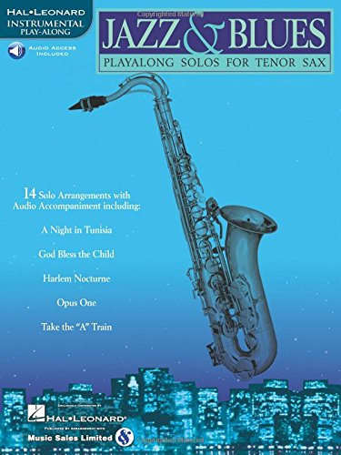 9780634004452: Jazz & Blues: Play-Along Solos for Tenor Sax Bk/Online Audio
