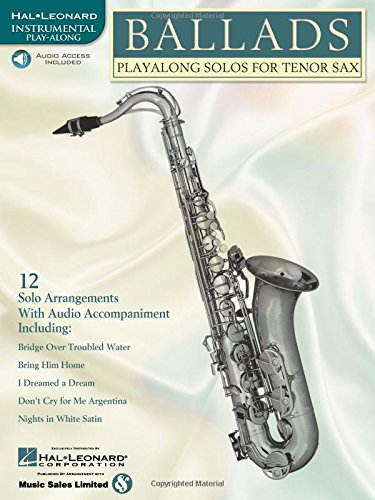 9780634004513: Ballads: Play-Along Solos for Tenor Sax (Instrumental Folio) Bk/online audio