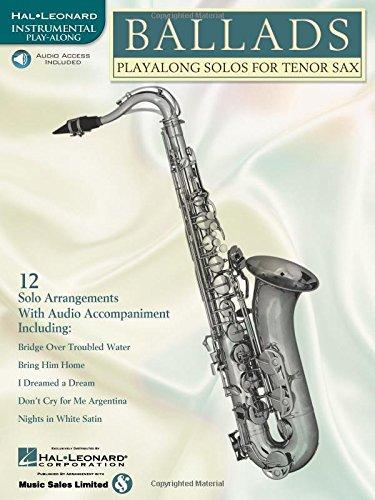 9780634004513: Ballads: Play-Along Solos for Tenor Sax (Instrumental Folio) Bk/online audio
