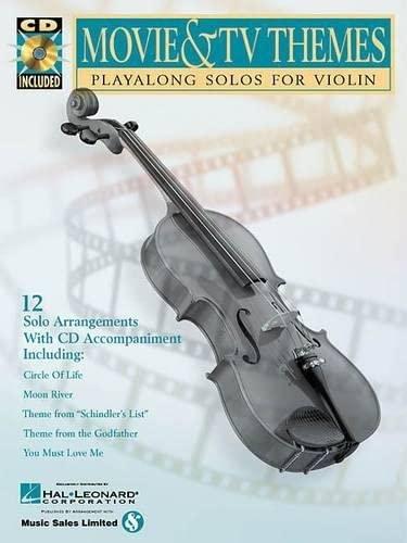 9780634004636: Movie and TV Themes: Play-Along Solos, Violin (Instrumental Folio)