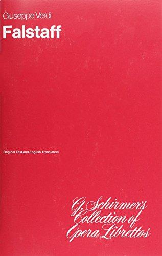 9780634008641: Falstaff: Libretto
