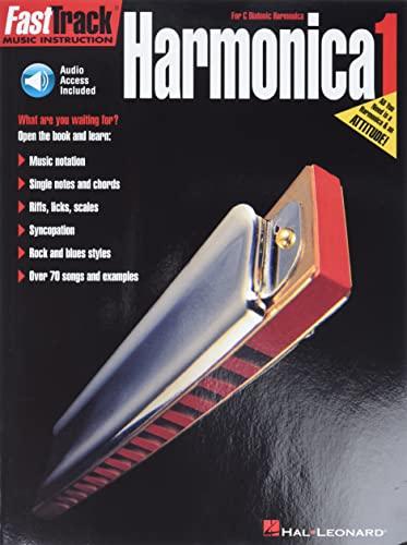 9780634009808: FastTrack Harmonica Method - Book 1: for Diatonic Harmonica (Fast Track Music Instruction) Bk/Online Audio