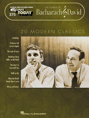 9780634011474: BACHARACH & DAVID 375 THE SONGS OF 20 MODERN CLASSICS