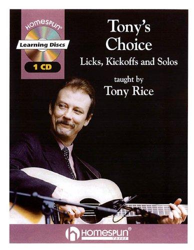 9780634013072: TONY'S CHOICE CD LICKS KICKOFFS AND SOLOS BK/CD