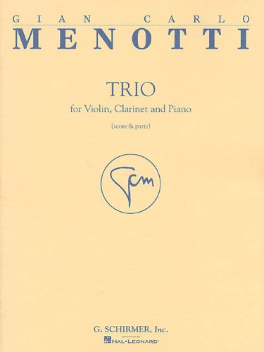 9780634013096: TRIO VN/CL/PNO SC/PARTS TRIO FOR VIOLIN CLARINET PIANO