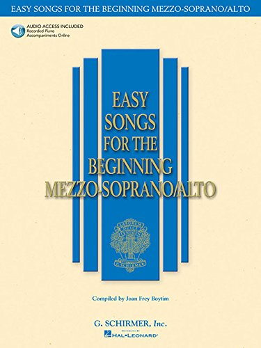 9780634019708: Easy Songs for the Beginning Mezzo-Soprano/Alto