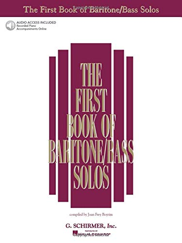 9780634020490: The First Book of Baritone/Bass Solos: Book/Online Audio (First Book of Solos)