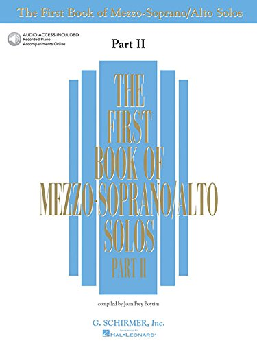 9780634020513: The First Book of Mezzo-Soprano/Alto Solos - Part II: Book/Online Audio (First Book of Solos Part II)
