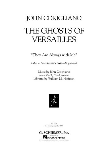 9780634023446: THEY ARE ALWAYS WITH ME VOCAL(FROM THE GHOSTS OF VERSAILLES)