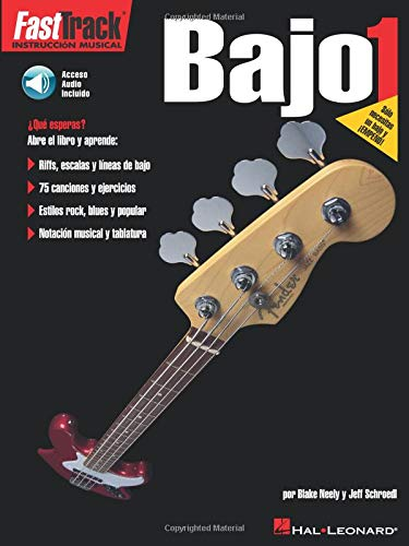 9780634023835: FastTrack Bass Method 1 - Spanish Edition: FastTrack Bajo 1(Book & Online Audio)