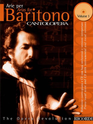 9780634033681: Arias for Baritone: 1 (Cantolopera Collection)