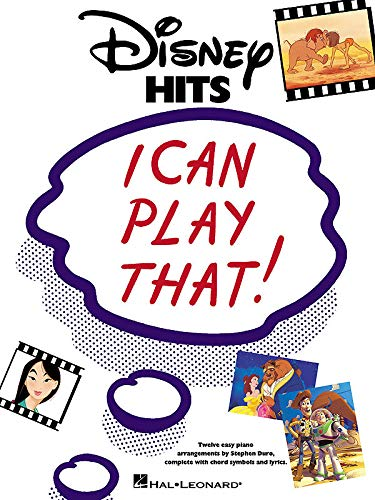 9780634036606: Disney Hits - I Can Play That (Easy Piano)