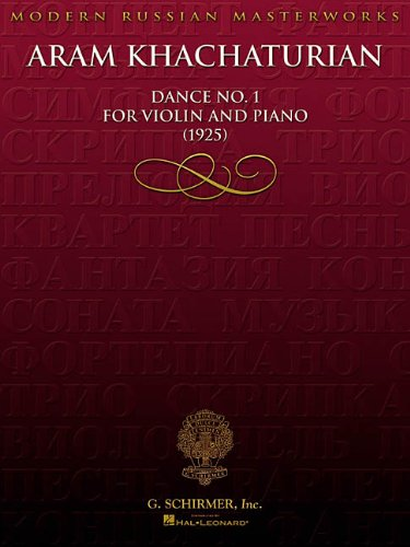 9780634036682: DANCE NO1 FOR VIOLIN AND PIANO (1925) (Modern Russian Masterworks)