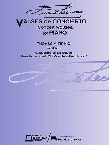 9780634036842: Ernesto Lecuona - Valses de Concierto: Concert Waltzes for Piano