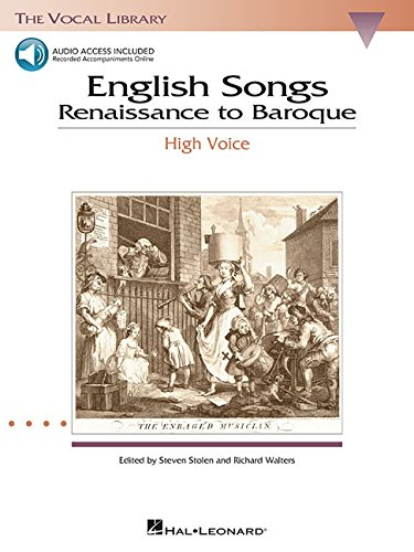 9780634038655: English songs: renaissance to baroque chant+CD (Vocal Library)