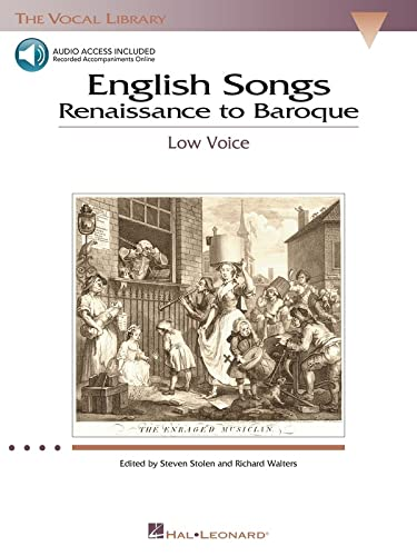 9780634038662: English Songs: Renaissance to Baroque: The Vocal Library Low Voice (Vocal Collection)