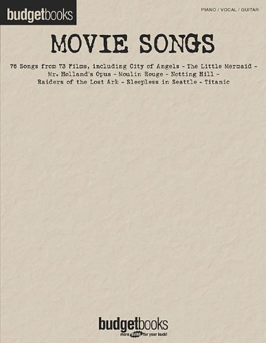 9780634040641: Movie Songs Budget Books