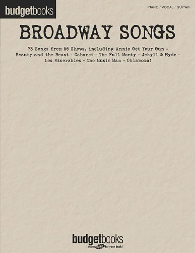 9780634040672: Broadway Songs: Budget Books