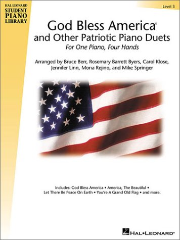9780634040795: God Bless America and Other Patriotic Piano Duets - Level 3 (Educational Piano Library)