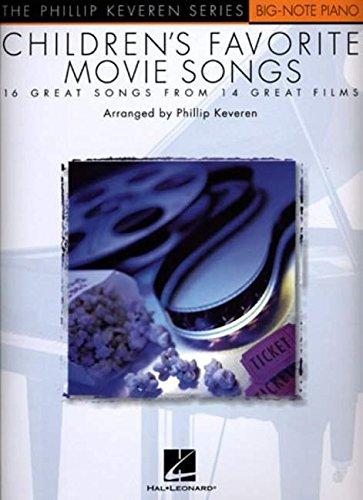 9780634041495: Children's Favorite Movie Songs: The Phillip Keveren Series Big-Note Piano