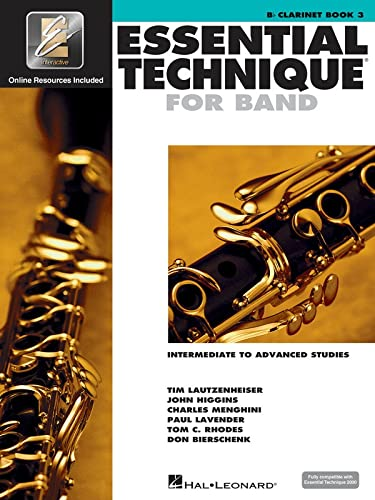 9780634044120: Essential Technique for Band - Intermediate to Advanced Studies: Bb Clarinet (Essential Elements Method)
