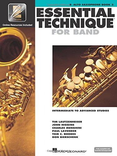 9780634044144: Essential Technique for Band - Intermediate to Advanced Studies: Eb Alto Saxophone