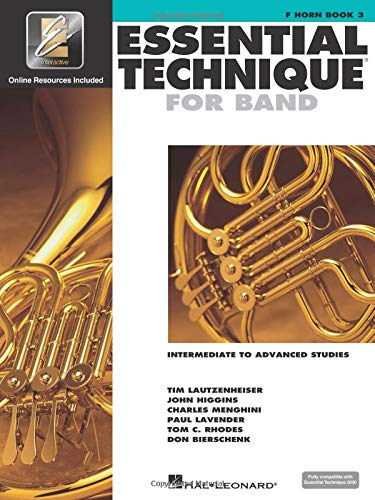 9780634044182: Essential Technique for Band - Intermediate to Advanced Studies: F Horn