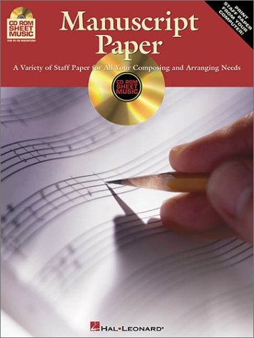 9780634045103: CD-ROM Manuscript Paper: A Variety of Staff Paper for All Your Composing and Arranging Needs