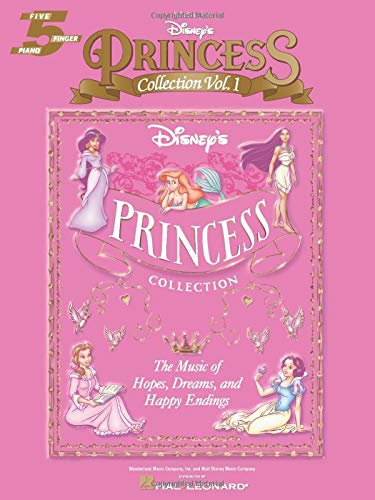 9780634045110: Selections from Disney's Princess Collection Vol. 1: The Music of Hope, Dreams and Happy Endings (Five-Finger Piano)