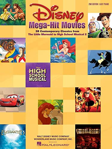 9780634045141: Disney Mega-Hit Movies: 38 Contemporary Classics from The Little Mermaid to High School Musical 2