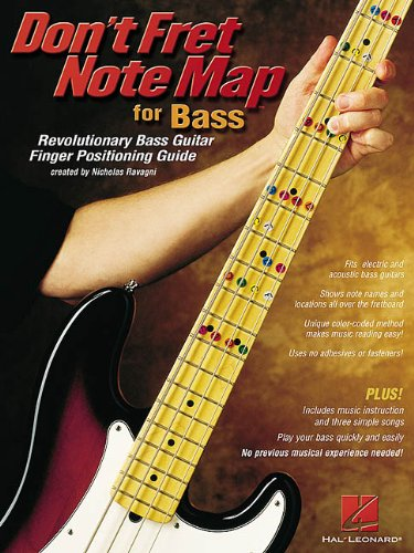 9780634047961: Don't Fret Note Map for Bass: Revolutionary Bass Guitar Finger Positioning Guide