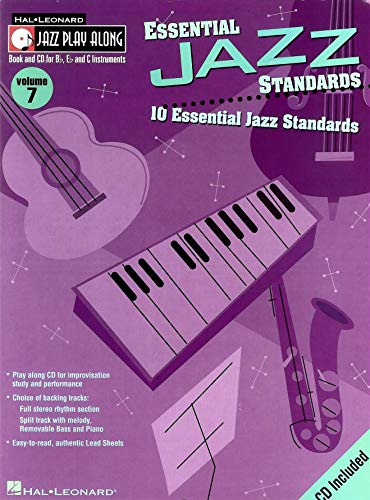 9780634048883: Jazz Play Along: Essential Jazz Standards Volume 7