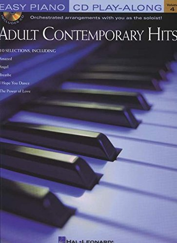 9780634050862: 4: Adult Contemporary Hits: Easy Piano Cd Play-along