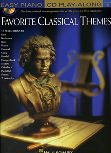 9780634050886: FAVORITE CLASSICAL THEMES EASY PIANO CD PLAY-ALONG VOLUME 2 BK/CD (Easy Piano CD Play-Along (Hal Leonard))