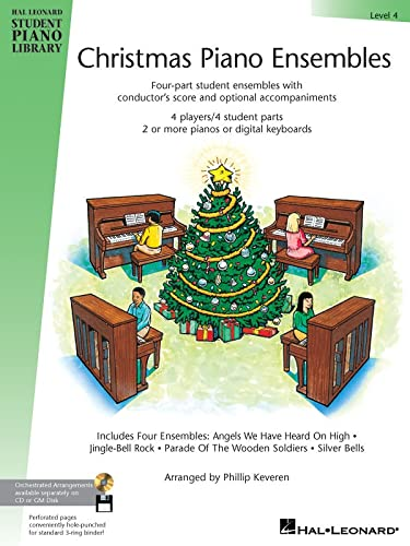 9780634051210: Christmas Piano Ensembles Level 4 HLSPL 4 Players/4 Student Parts