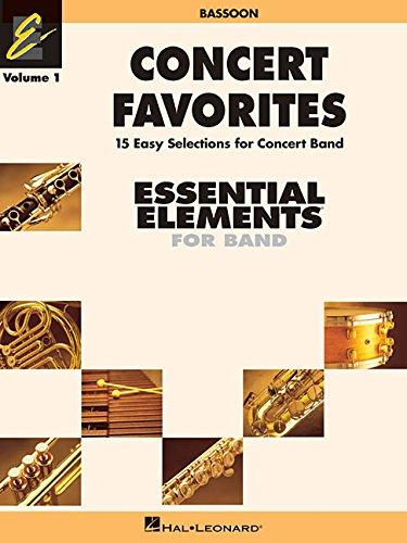 9780634052019: Concert Favorites Vol. 1 - Bassoon: Essential Elements 2000 Band Series