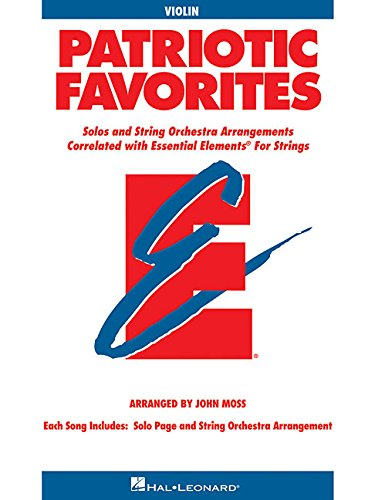 9780634052798: Patriotic Favorites for Strings: Violin Book (Parts 1/2)