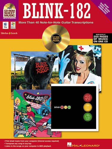 9780634053535: Blink-182: More Than 40 Note-for-Note Guitar Transcriptions